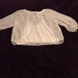 NWT Cream color Liz Claiborne blouse